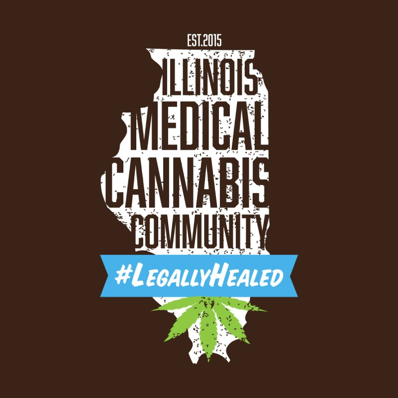 Illinois #LegallyHealed Brown Women's Sweatshirt by The Medical Cannabis Community