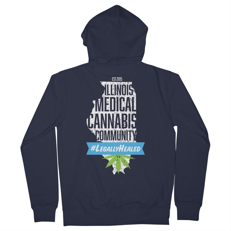 Illinois #LegallyHealed Brown Men's French Terry Zip-Up Hoody by The Medical Cannabis Community