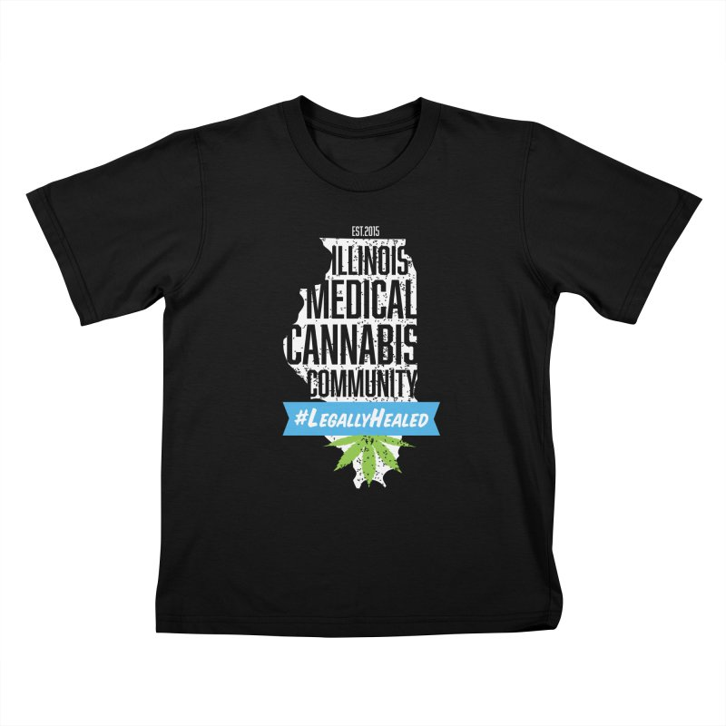 Illinois #LegallyHealed Brown Kids T-Shirt by The Medical Cannabis Community
