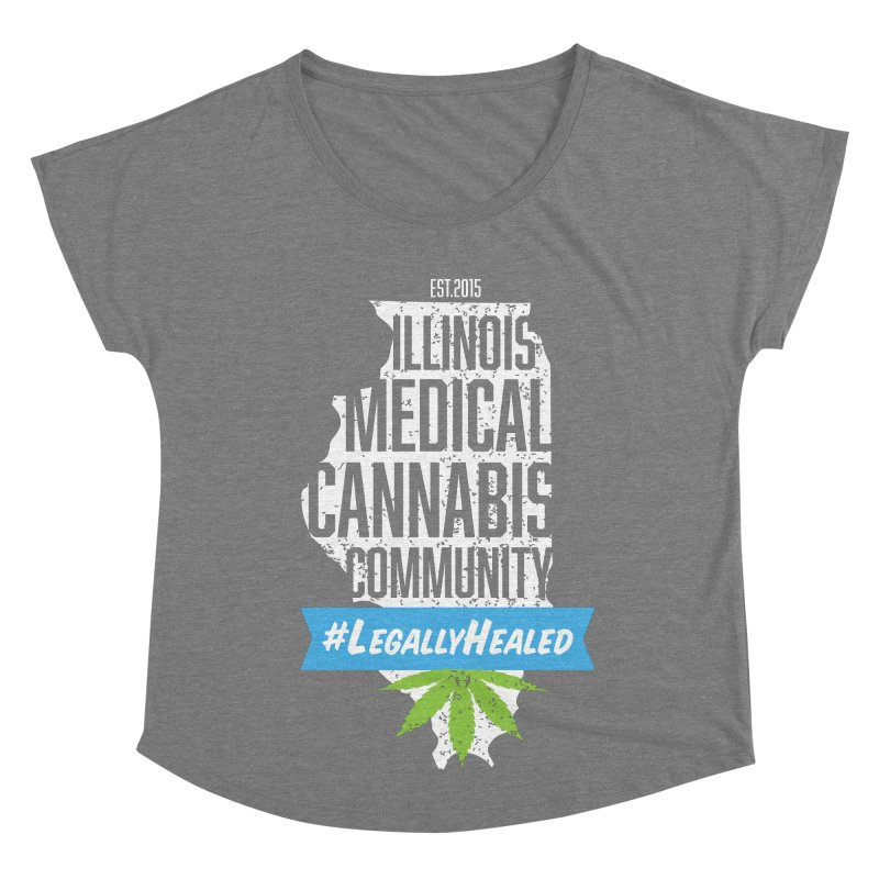 Illinois #LegallyHealed Brown Women's Scoop Neck by The Medical Cannabis Community