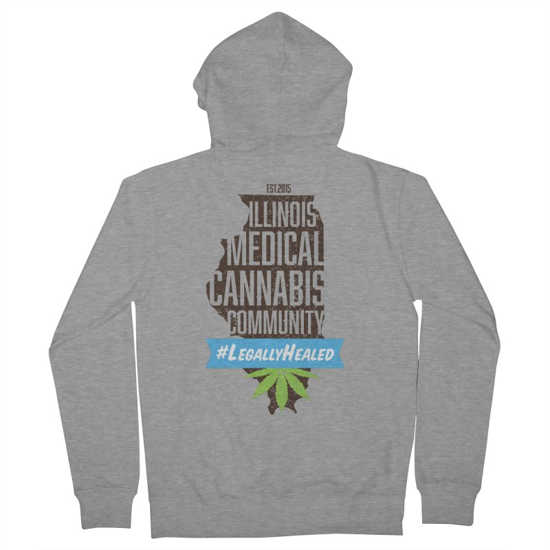 Illinois #LegallyHealed Men's French Terry Zip-Up Hoody by The Medical Cannabis Community