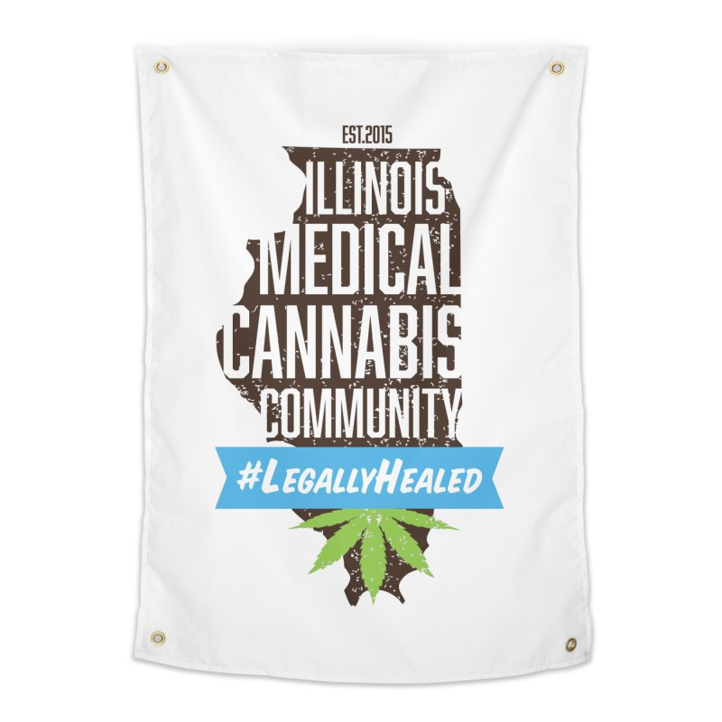 Illinois #LegallyHealed Home Tapestry by The Medical Cannabis Community