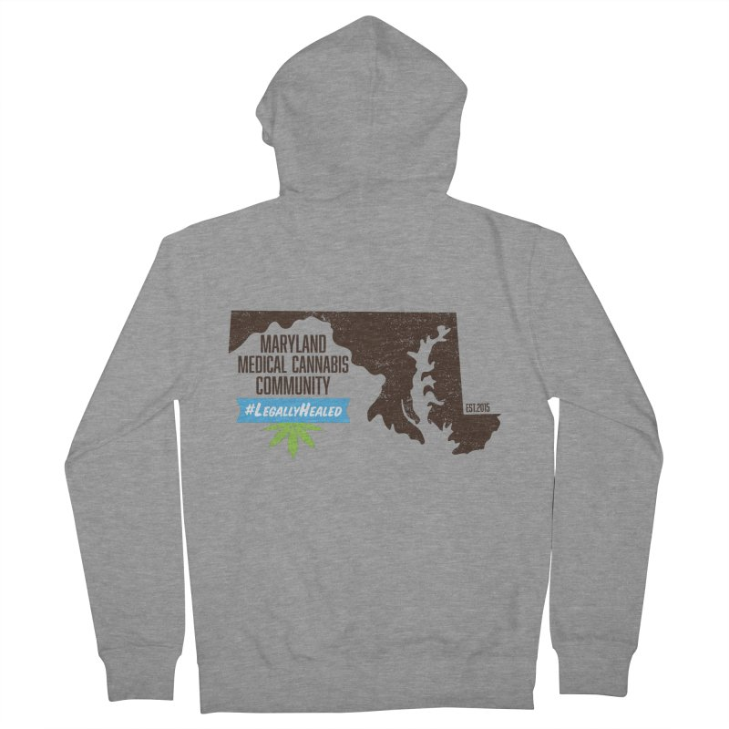 Maryland #LegallyHealed Men's French Terry Zip-Up Hoody by The Medical Cannabis Community