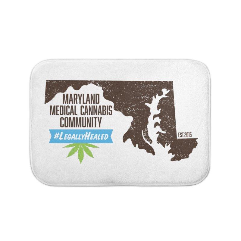 Maryland #LegallyHealed Home Bath Mat by The Medical Cannabis Community