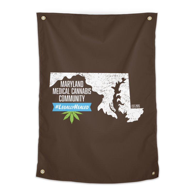 Maryland #LegallyHealed Brown Home Tapestry by The Medical Cannabis Community