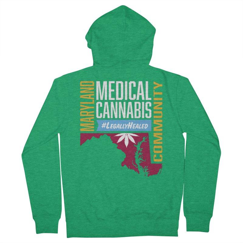 Maryland Medical Cannabis Community Men's Zip-Up Hoody by The Medical Cannabis Community