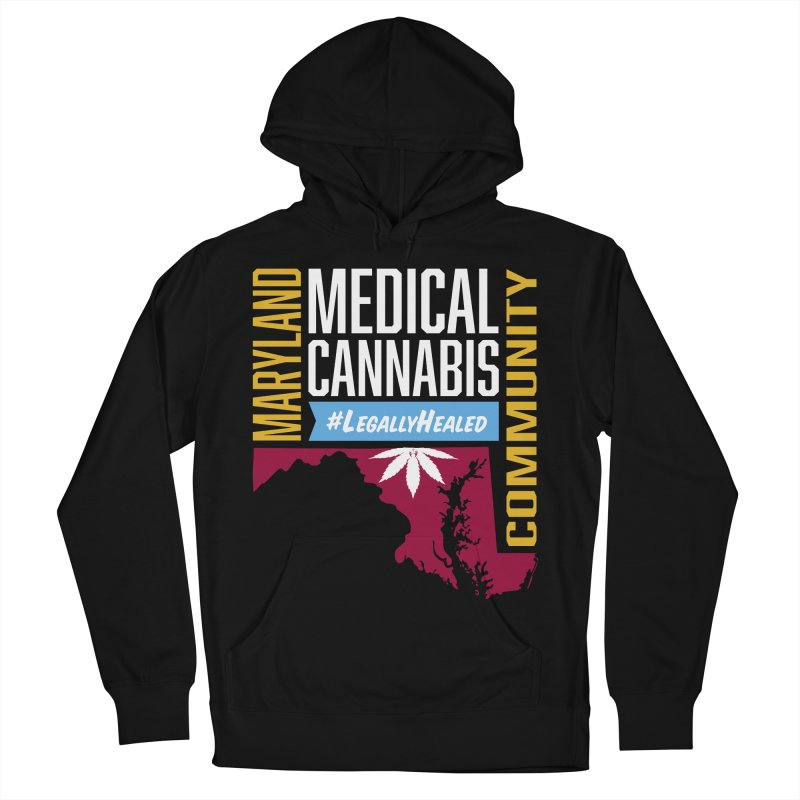 Maryland Medical Cannabis Community Men's French Terry Pullover Hoody by The Medical Cannabis Community