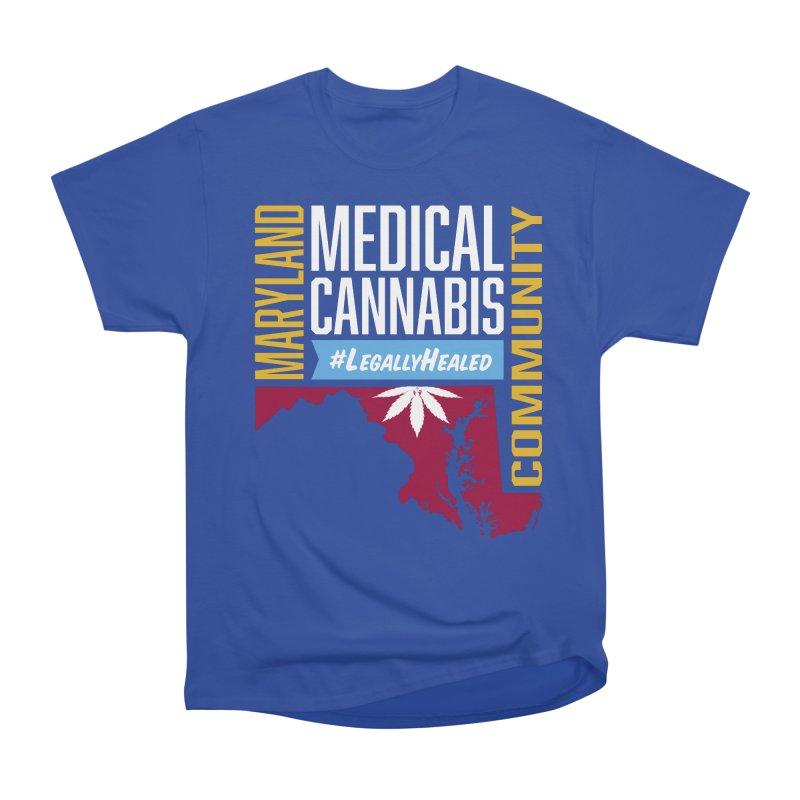 Maryland Medical Cannabis Community Men's Heavyweight T-Shirt by The Medical Cannabis Community