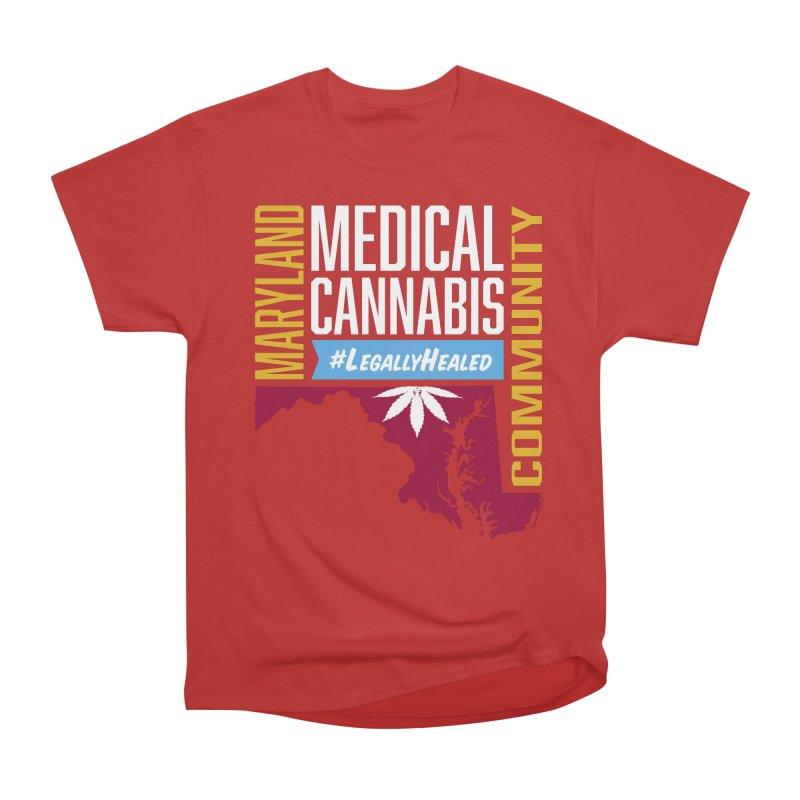 Maryland Medical Cannabis Community Women's Heavyweight Unisex T-Shirt by The Medical Cannabis Community
