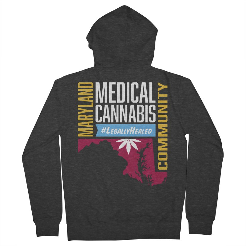 Maryland Medical Cannabis Community Men's French Terry Zip-Up Hoody by The Medical Cannabis Community