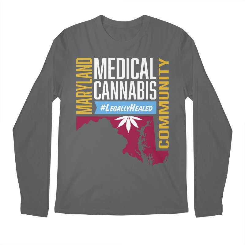 Maryland Medical Cannabis Community Men's Regular Longsleeve T-Shirt by The Medical Cannabis Community