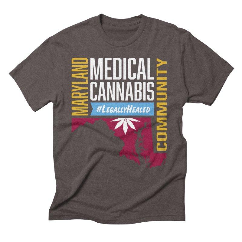 Maryland Medical Cannabis Community Men's Triblend T-Shirt by The Medical Cannabis Community