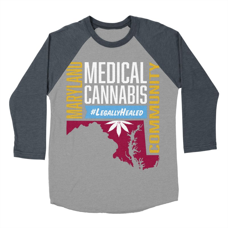 Maryland Medical Cannabis Community Women's Baseball Triblend Longsleeve T-Shirt by The Medical Cannabis Community