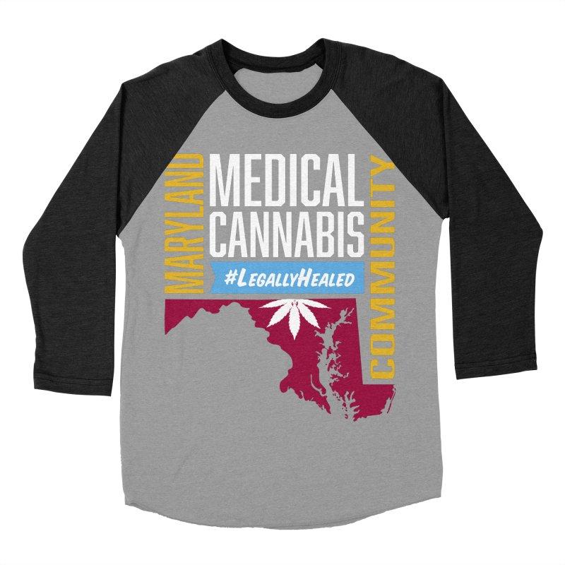 Maryland Medical Cannabis Community Men's Baseball Triblend Longsleeve T-Shirt by The Medical Cannabis Community