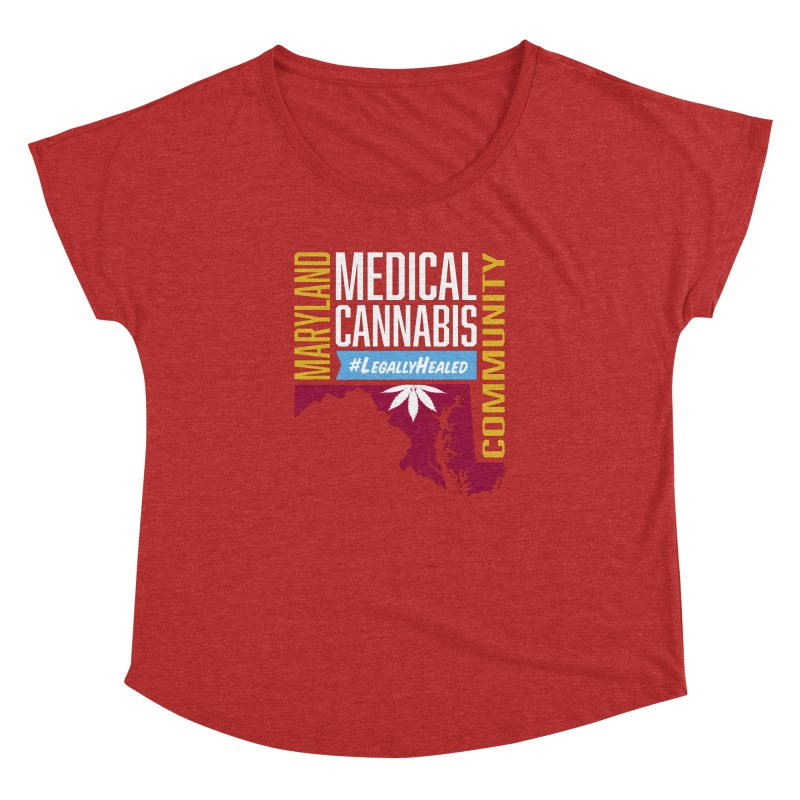 Maryland Medical Cannabis Community Women's Dolman Scoop Neck by The Medical Cannabis Community
