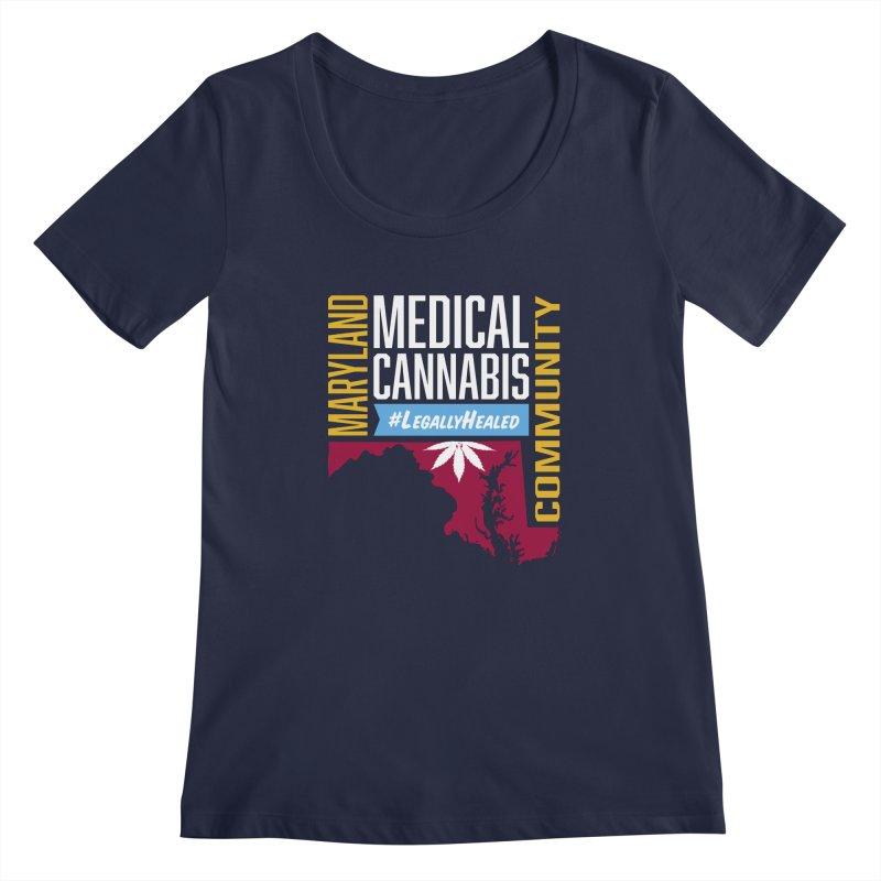 Maryland Medical Cannabis Community Women's Regular Scoop Neck by The Medical Cannabis Community