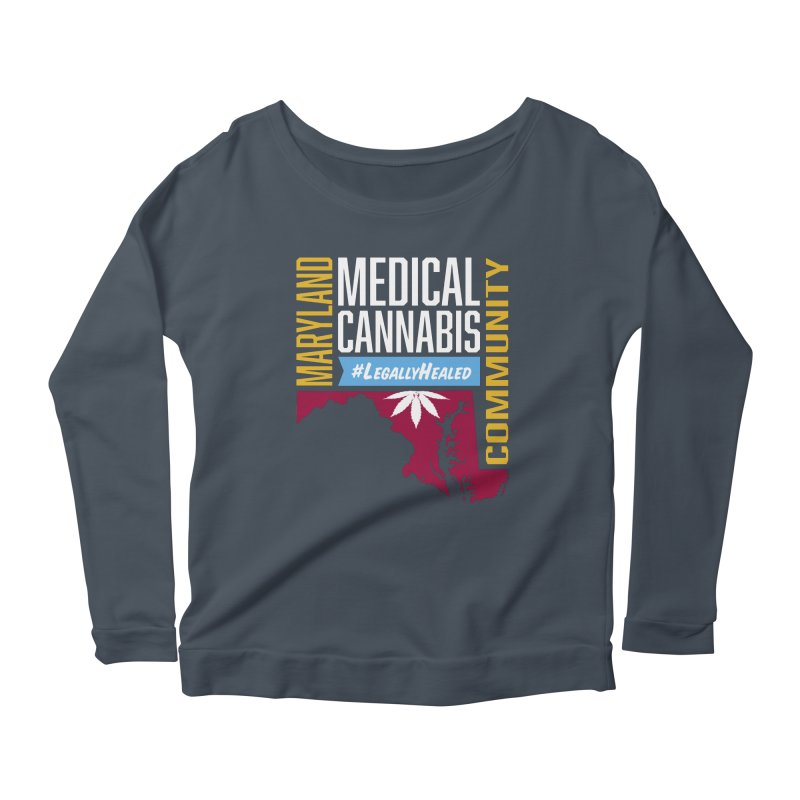 Maryland Medical Cannabis Community Women's Scoop Neck Longsleeve T-Shirt by The Medical Cannabis Community