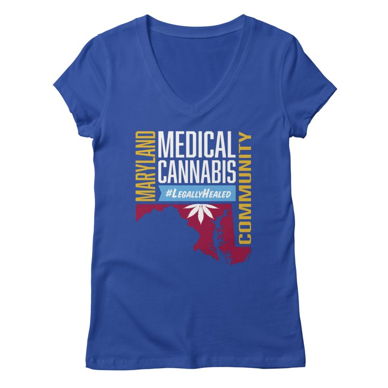 Maryland Medical Cannabis Community Women's Regular V-Neck by The Medical Cannabis Community