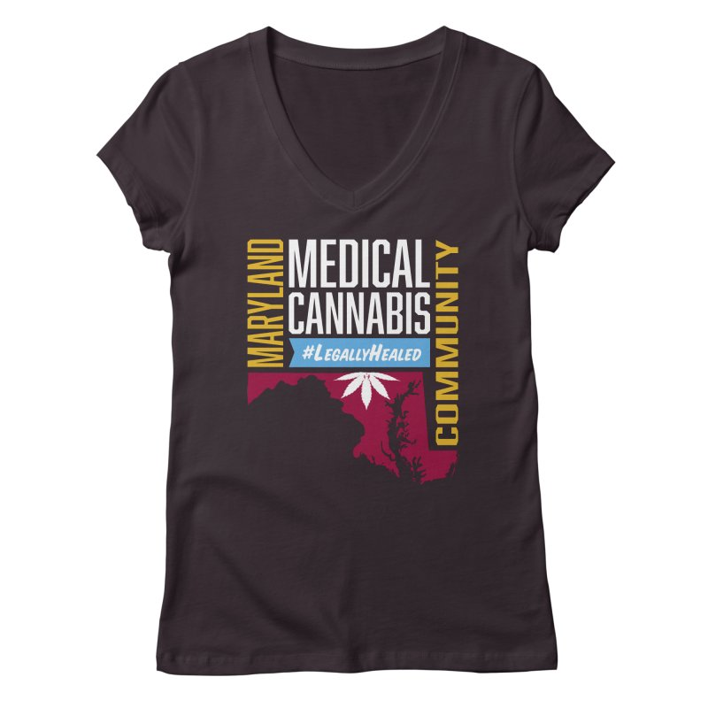 Maryland Medical Cannabis Community Women's Regular V-Neck by The Medical Cannabis Community