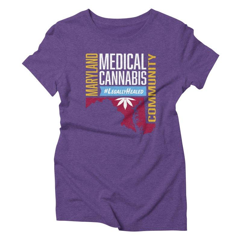 Maryland Medical Cannabis Community Women's Triblend T-Shirt by The Medical Cannabis Community