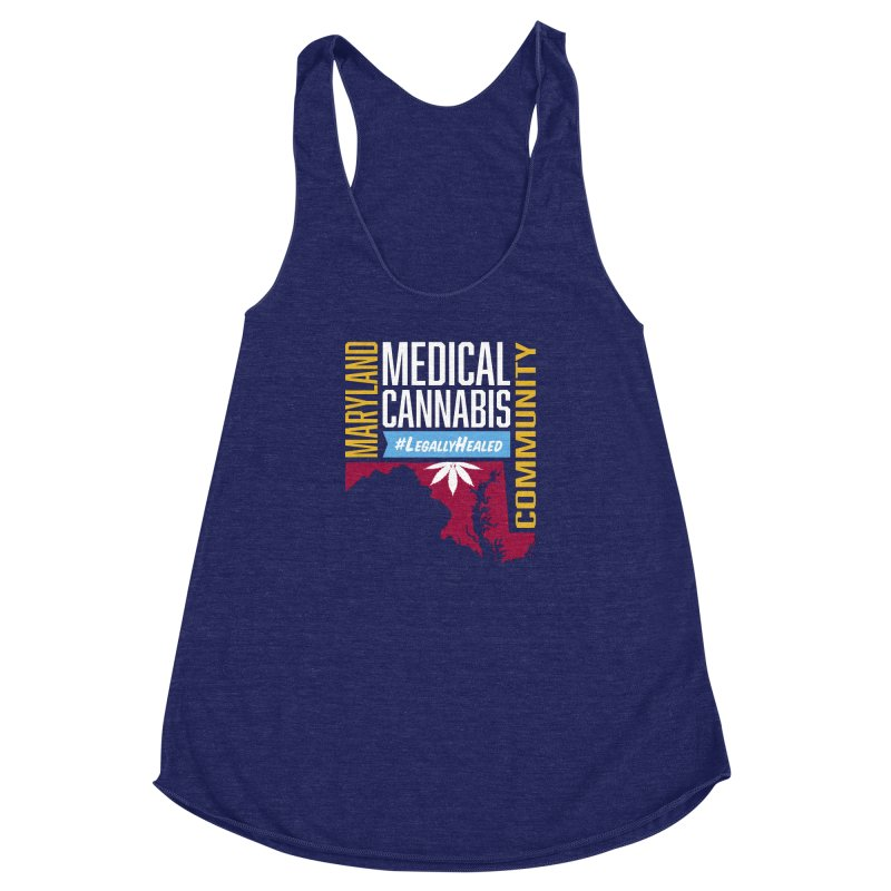 Maryland Medical Cannabis Community Women's Racerback Triblend Tank by The Medical Cannabis Community