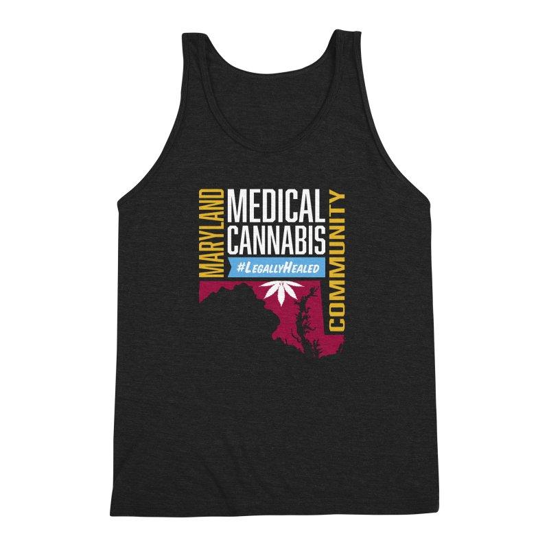 Maryland Medical Cannabis Community Men's Triblend Tank by The Medical Cannabis Community
