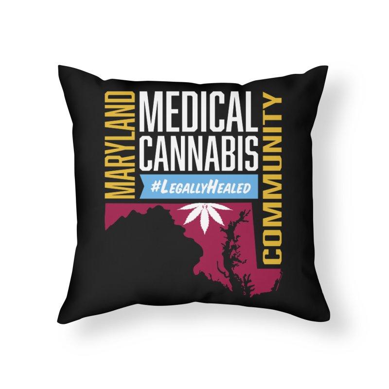 Maryland Medical Cannabis Community Home Throw Pillow by The Medical Cannabis Community