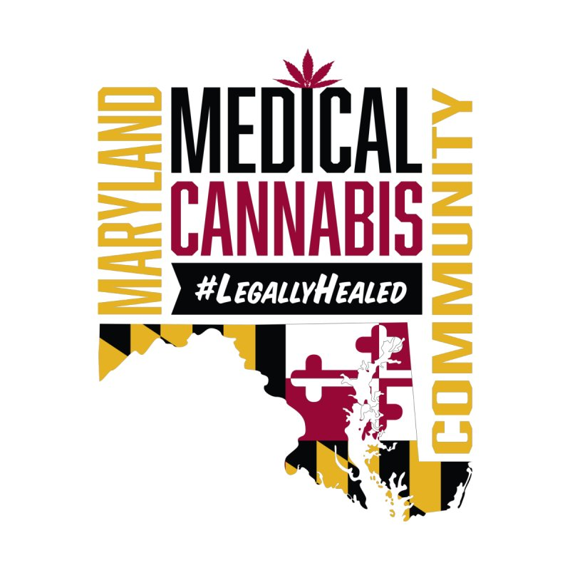 Maryland State Flag Medical Cannabis Community by The Medical Cannabis Community