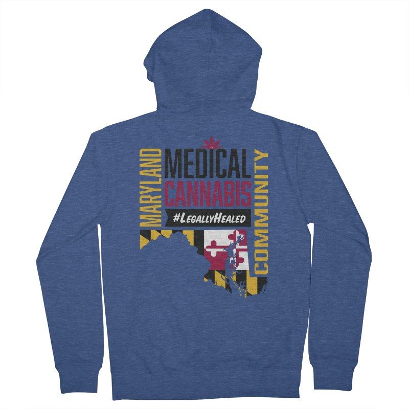 Maryland State Flag Medical Cannabis Community Men's Zip-Up Hoody by The Medical Cannabis Community