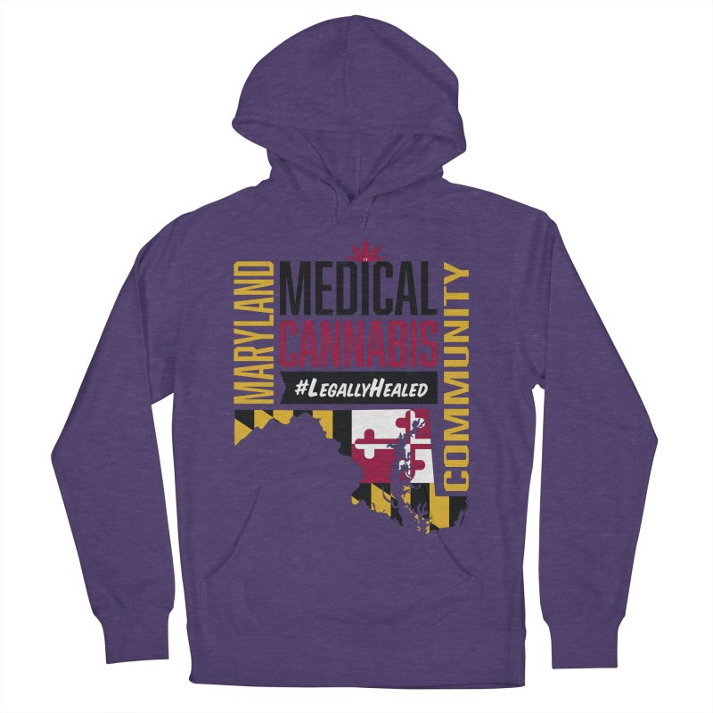 Maryland State Flag Medical Cannabis Community Women's French Terry Pullover Hoody by The Medical Cannabis Community