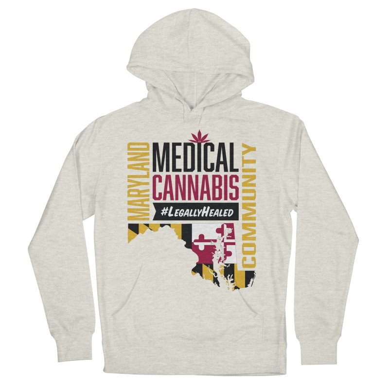 Maryland State Flag Medical Cannabis Community Men's French Terry Pullover Hoody by The Medical Cannabis Community