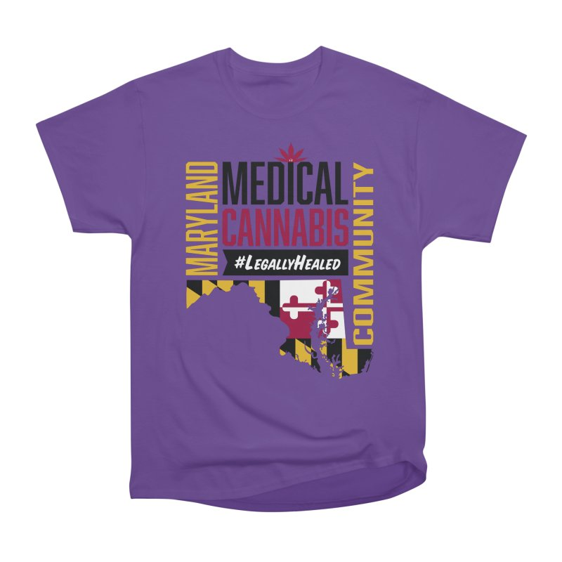 Maryland State Flag Medical Cannabis Community Men's Heavyweight T-Shirt by The Medical Cannabis Community