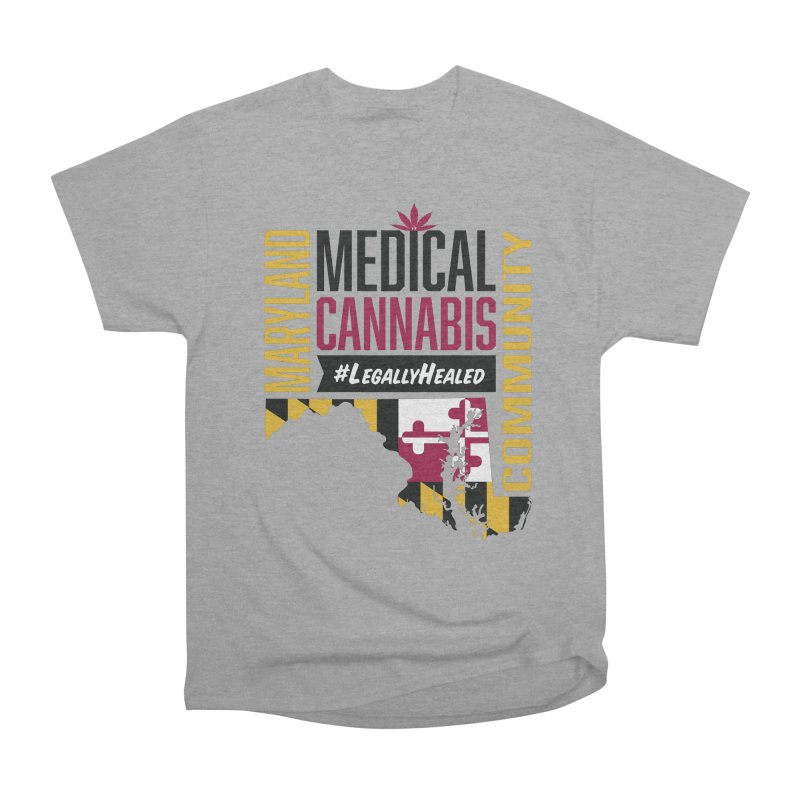 Maryland State Flag Medical Cannabis Community Women's Heavyweight Unisex T-Shirt by The Medical Cannabis Community