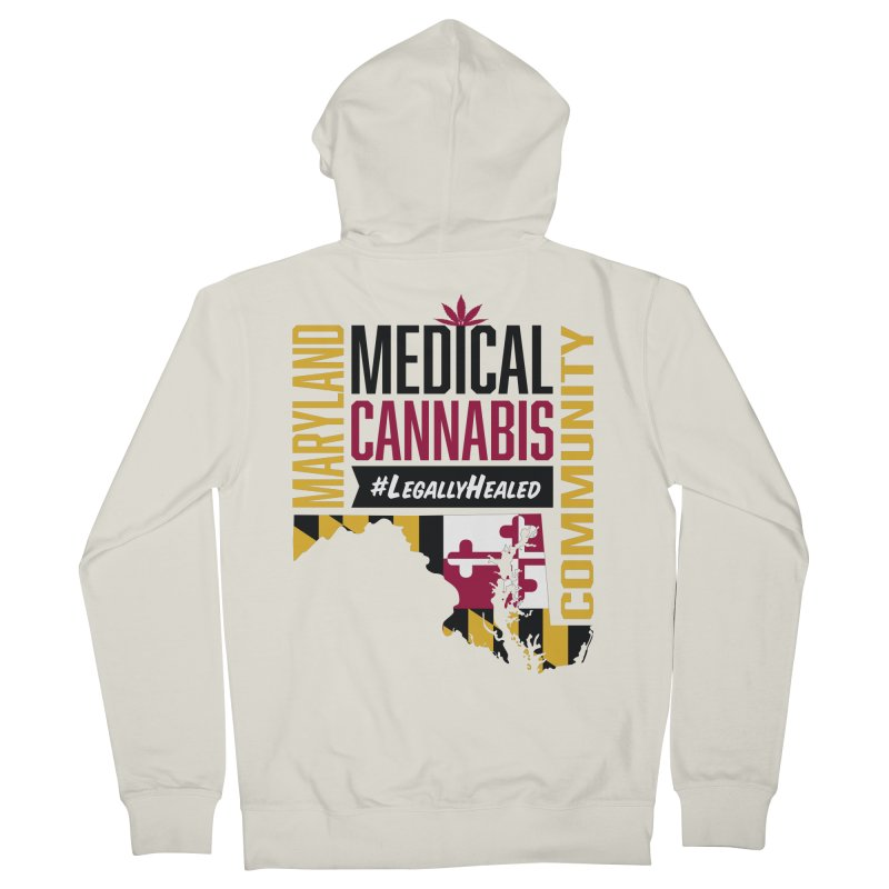 Maryland State Flag Medical Cannabis Community Men's French Terry Zip-Up Hoody by The Medical Cannabis Community