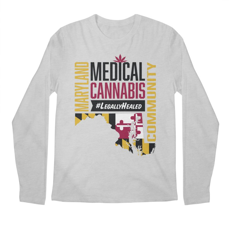 Maryland State Flag Medical Cannabis Community Men's Regular Longsleeve T-Shirt by The Medical Cannabis Community