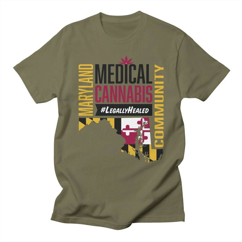Maryland State Flag Medical Cannabis Community Women's Regular Unisex T-Shirt by The Medical Cannabis Community