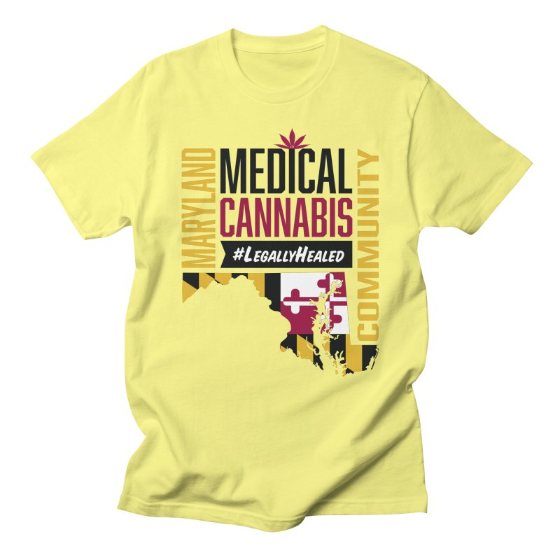 Maryland State Flag Medical Cannabis Community Men's Regular T-Shirt by The Medical Cannabis Community