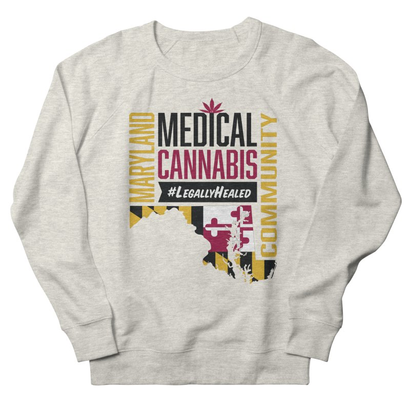 Maryland State Flag Medical Cannabis Community Men's French Terry Sweatshirt by The Medical Cannabis Community