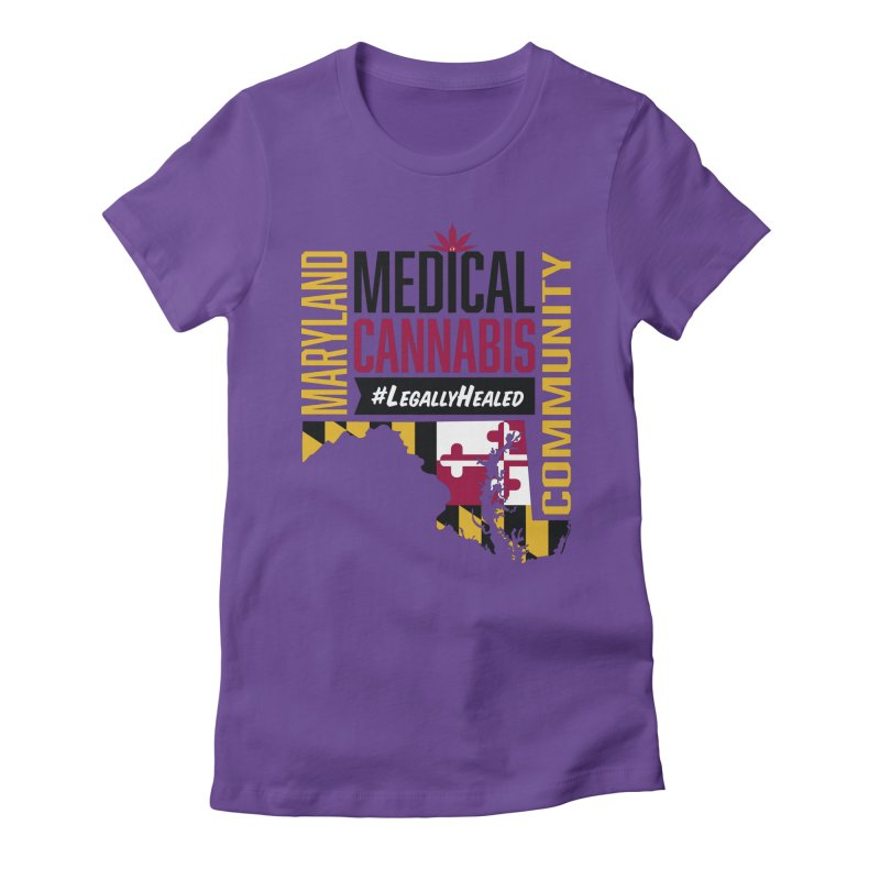 Maryland State Flag Medical Cannabis Community Women's Fitted T-Shirt by The Medical Cannabis Community