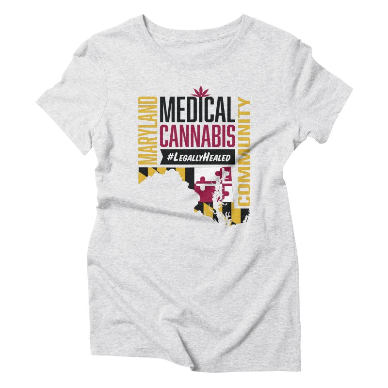 Maryland State Flag Medical Cannabis Community Women's Triblend T-Shirt by The Medical Cannabis Community