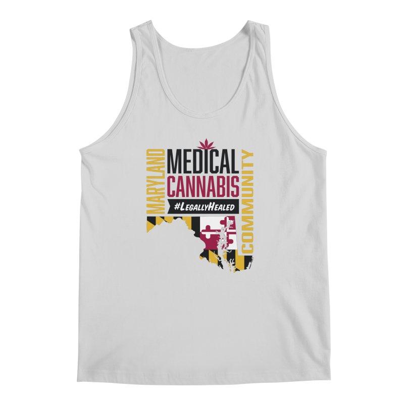 Maryland State Flag Medical Cannabis Community Men's Regular Tank by The Medical Cannabis Community