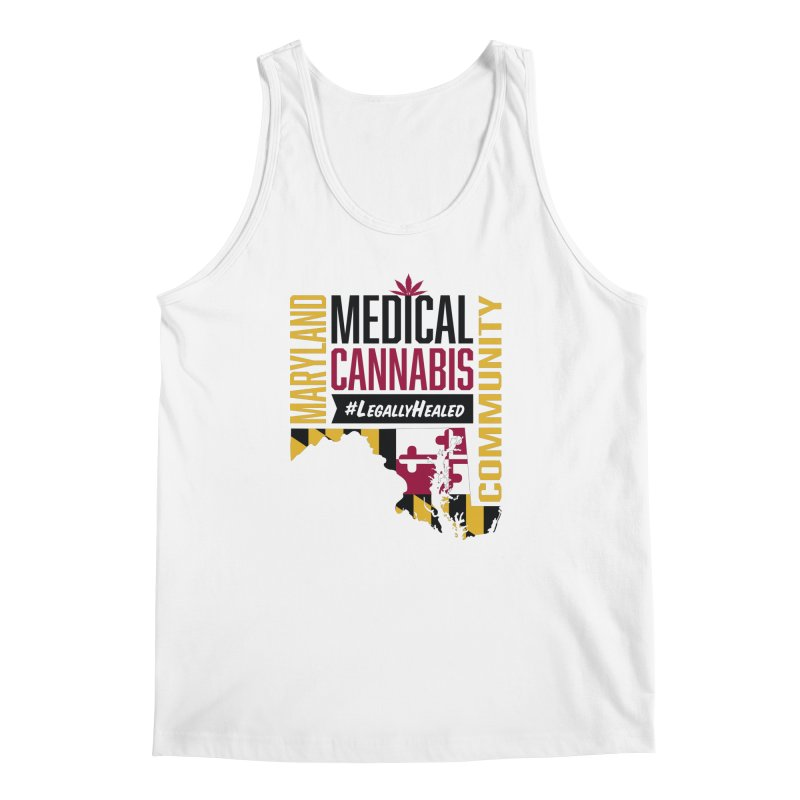 Maryland State Flag Medical Cannabis Community Men's Regular Tank by The Medical Cannabis Community