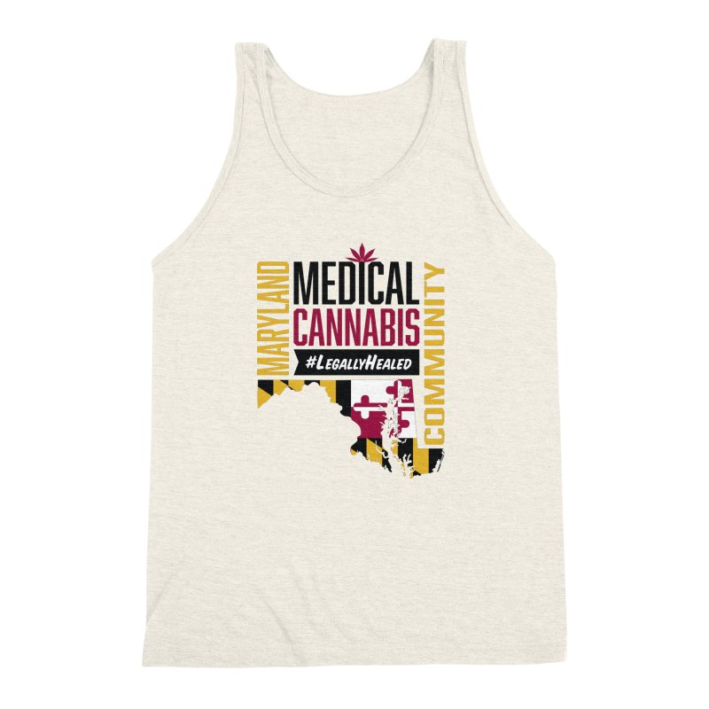Maryland State Flag Medical Cannabis Community Men's Triblend Tank by The Medical Cannabis Community