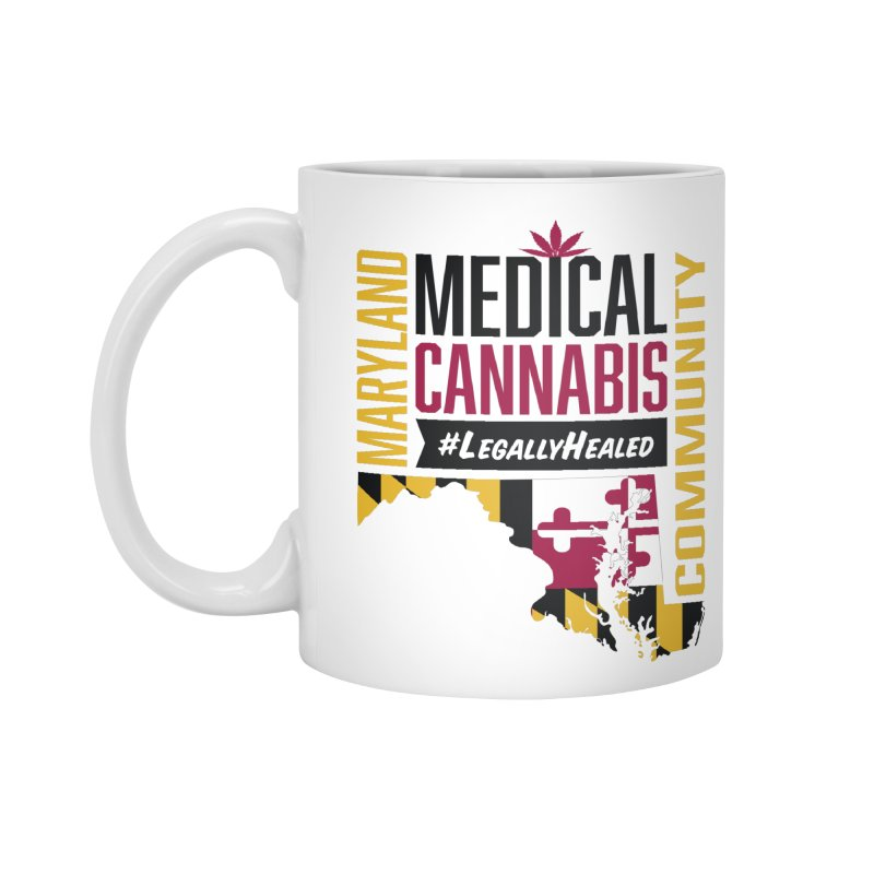 Maryland State Flag Medical Cannabis Community Accessories Standard Mug by The Medical Cannabis Community