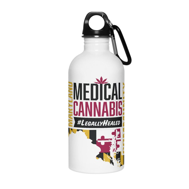 Maryland State Flag Medical Cannabis Community Accessories Water Bottle by The Medical Cannabis Community