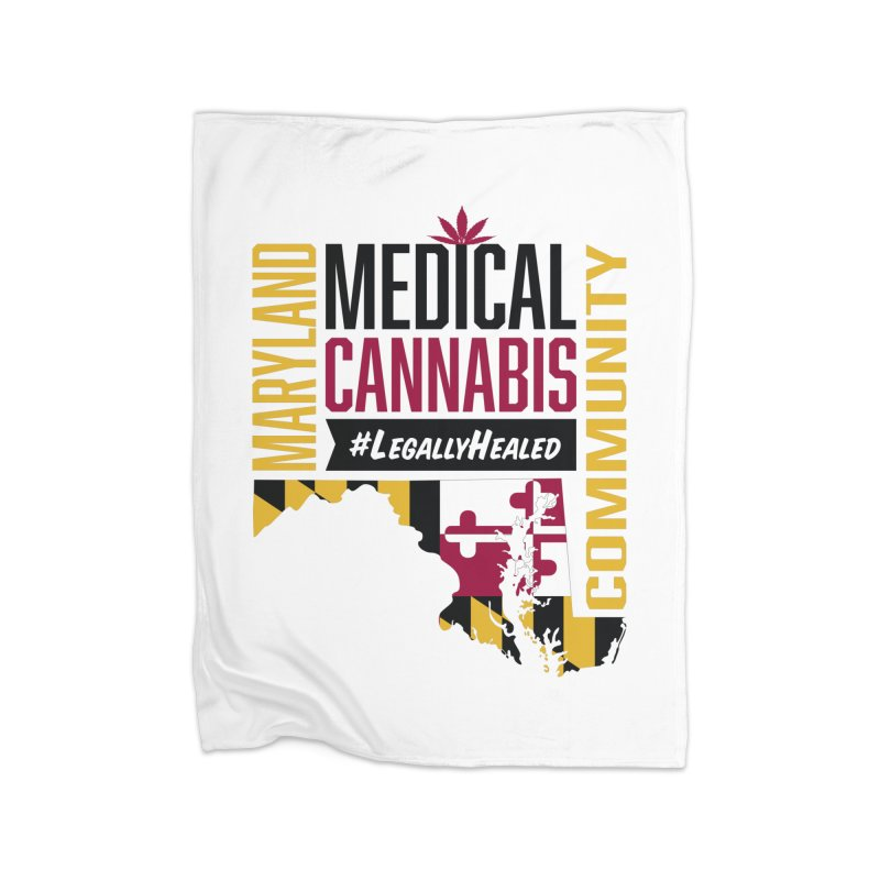 Maryland State Flag Medical Cannabis Community Home Fleece Blanket Blanket by The Medical Cannabis Community