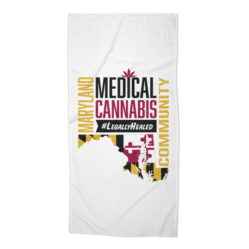 Maryland State Flag Medical Cannabis Community Accessories Beach Towel by The Medical Cannabis Community