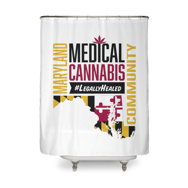 Maryland State Flag Medical Cannabis Community Home Shower Curtain by The Medical Cannabis Community