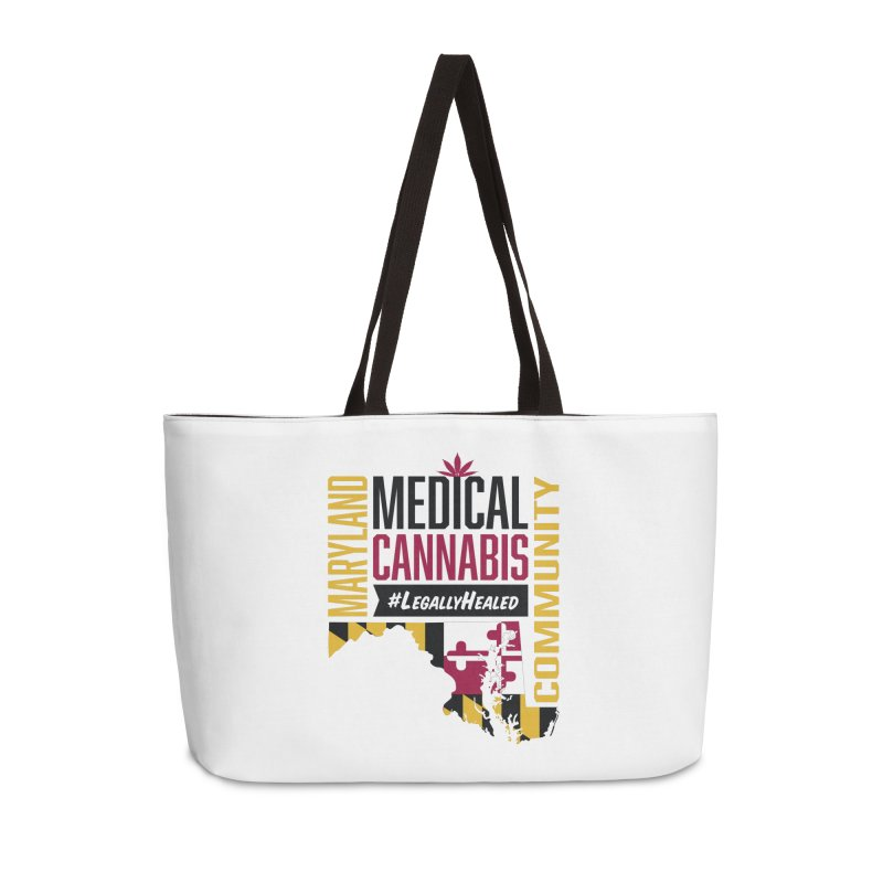 Maryland State Flag Medical Cannabis Community Accessories Weekender Bag Bag by The Medical Cannabis Community
