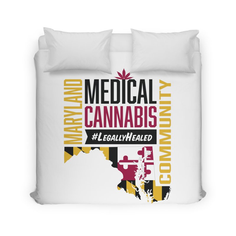 Maryland State Flag Medical Cannabis Community Home Duvet by The Medical Cannabis Community